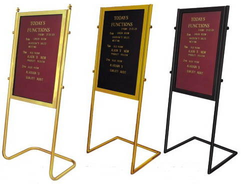 Brass and Steel Lobby Boards Image