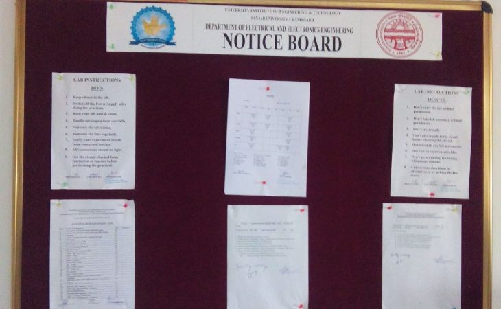 Notice Board with Golden Frame Image
